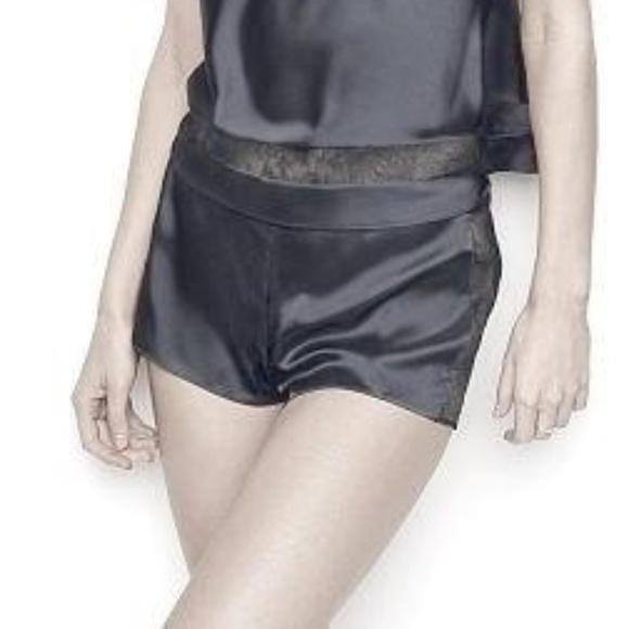Victoria's Secret Pants - NEW Very Sexy Lace Satin Boxer Shorts Sleep Lounge
